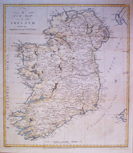 A New Map of Ireland Divided into Provinces