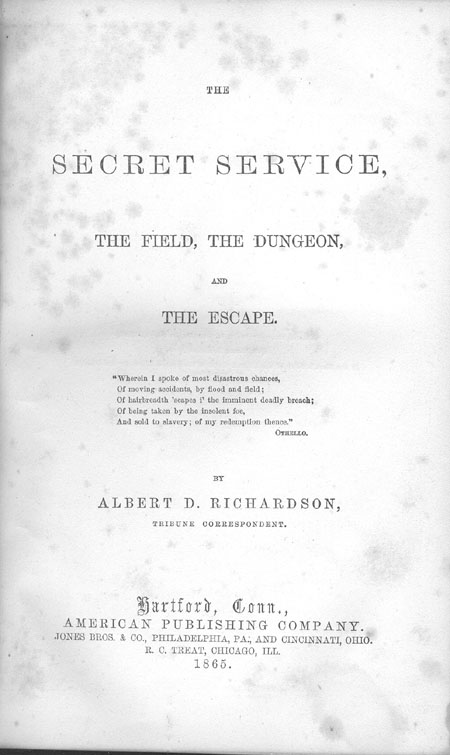 The Secret Service, the Field, The Dungeon . . .