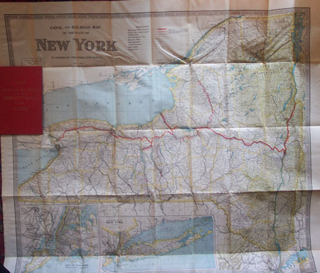 Canal and  Railroad Map of the State of New York .