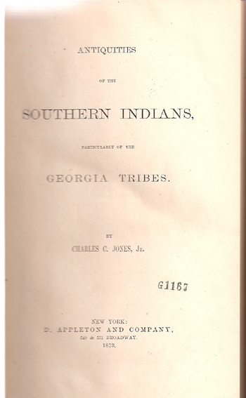 Antiquities of the Southern Indians