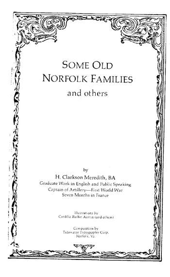 Some Old Norfolk Families
