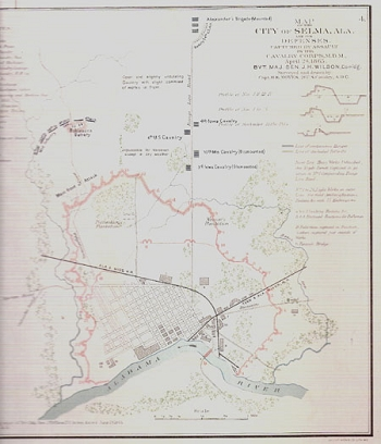 Map of the City of Selma, Ala.