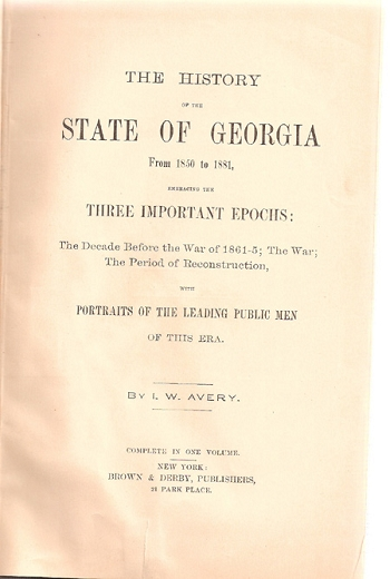 The History of the State ofGeorgia