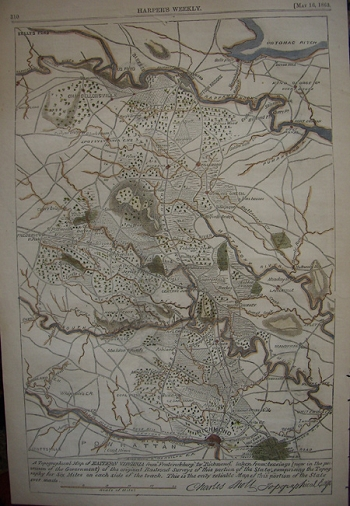 A Topographical Map of Eastern Virginia