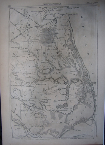 General Map of Albemarle and Pamlico Sounds, . . .