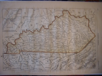 Map of Kentucky, Showing The Theatre of . . .