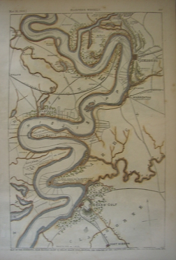 Map of the Mississippi, from Haines's Bluff, . . .