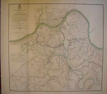 Topographical Map Showing the Defenses of Cincinnati, Covington and Newport.