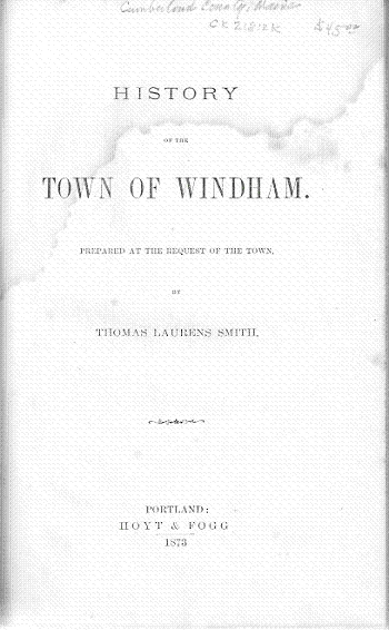 History of the Town of Windham.