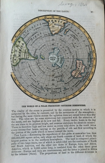 The World on a Polar Projection-Southern Hemisphere