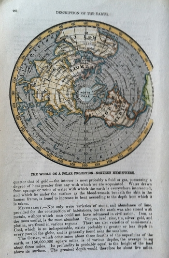 The World on a Polar Projection-Northern Hemisphere.