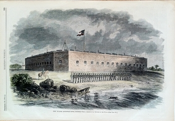 Fort Pulaski, Savannah River, Georgia.-From a Sketch by an Officer of the Navy.