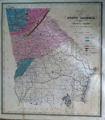 Bonner's Map of the State of Georgia.