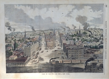 View of the City of Utica, New York.