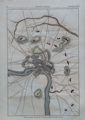 Map of Richmond, Virginia, and Its Environs . . . .