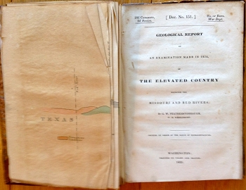 Geological Report of An Examination made in 1834 of The Elevated Country Between the Missouri and Red Rivers.