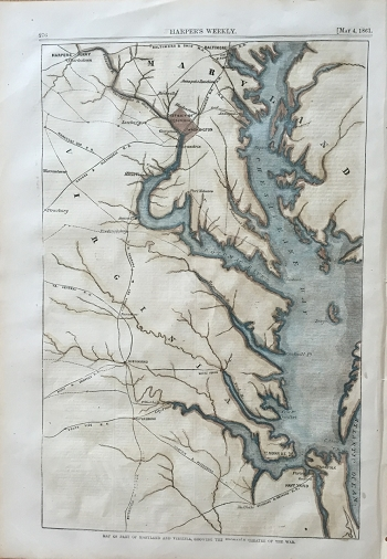 Map of Part of Maryland and Virginia, showing the Probable Theatre of the War.