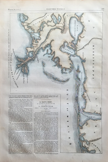 Map of the Coast Line from the Mouths of the Mississippi to Pensacola
