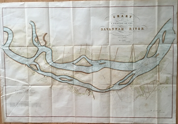 Chart of a Portion of the Savannah River