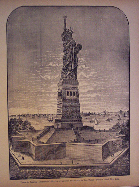 France to America.-Bartholdi's Statue of Liberty